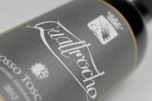 etichetta vino Quattr'oche Toscana rosso IGT
