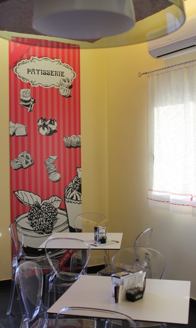 pannello Patisserie personalizzato per panificio pasticceria Antichi Sapori