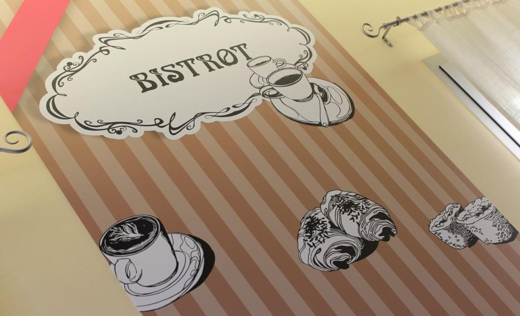 pannello Bistrot personalizzato per panificio pasticceria Antichi Sapori