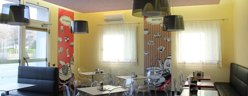 decorazione con pannelli per panificio e pasticceria Antichi Sapori