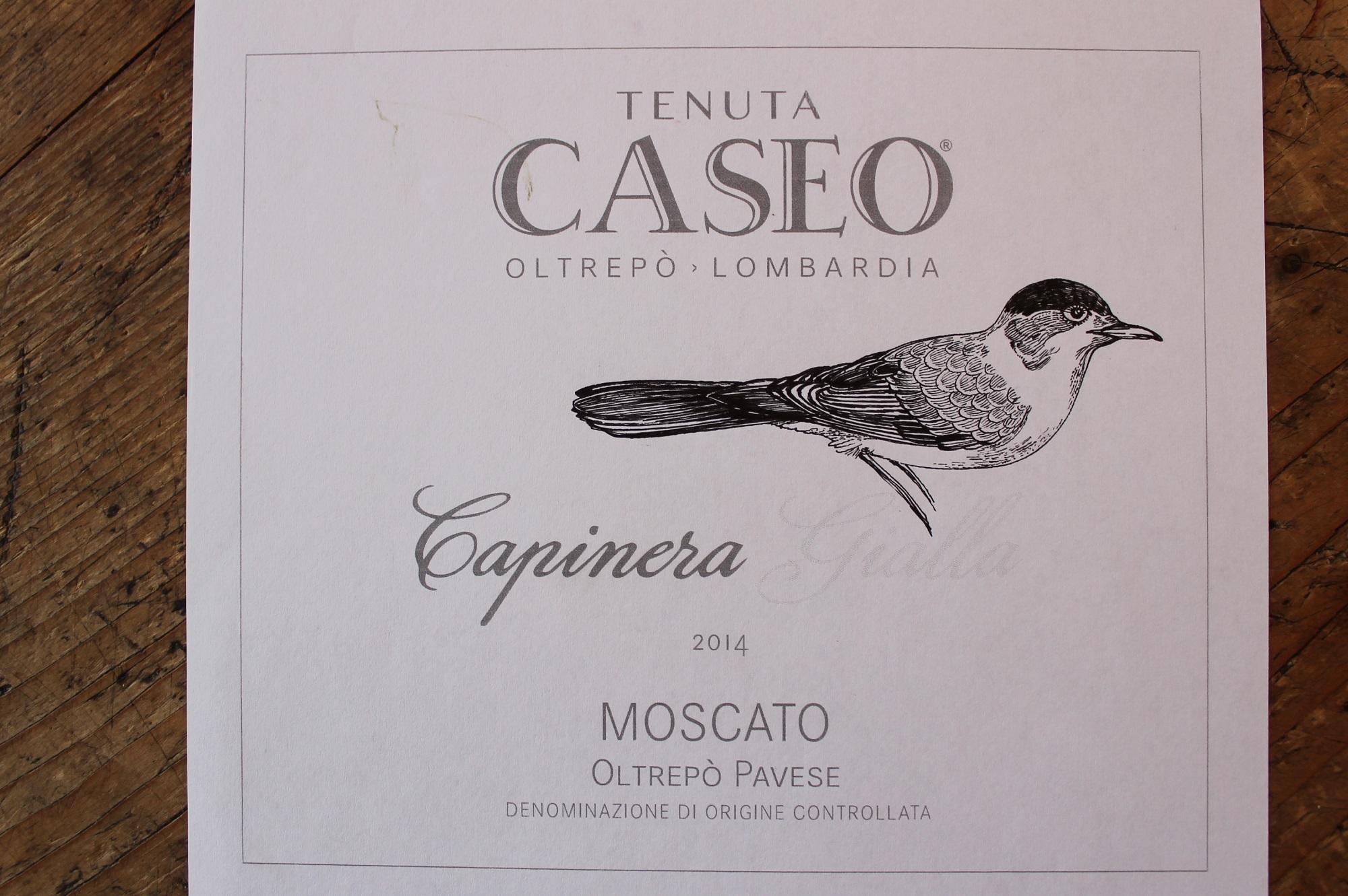 prova etichetta vino Moscato Capinera Gialla Tenuta CASEO