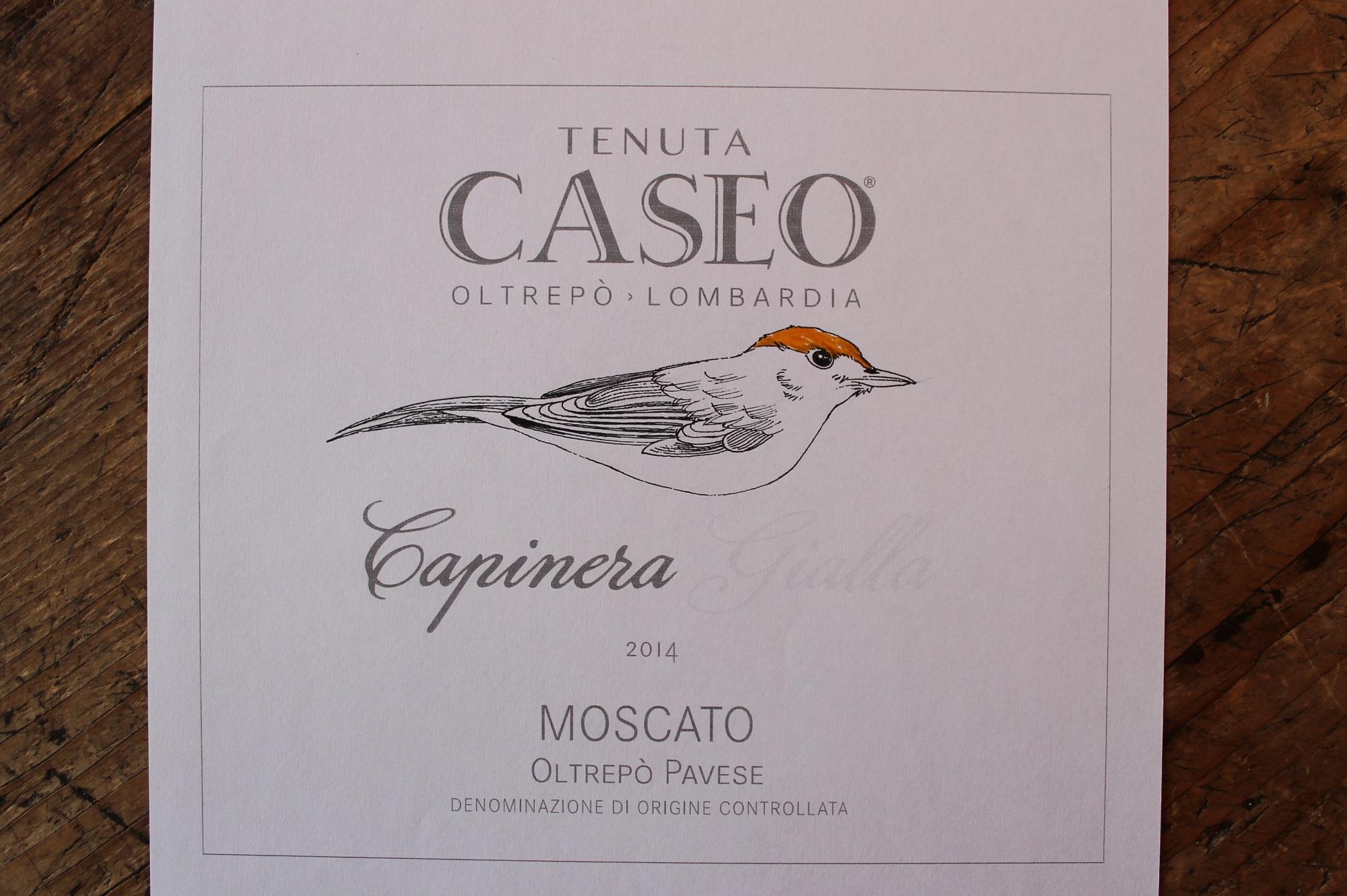 prova etichetta vino Capinera Gialla Moscato Tenuta CASEO