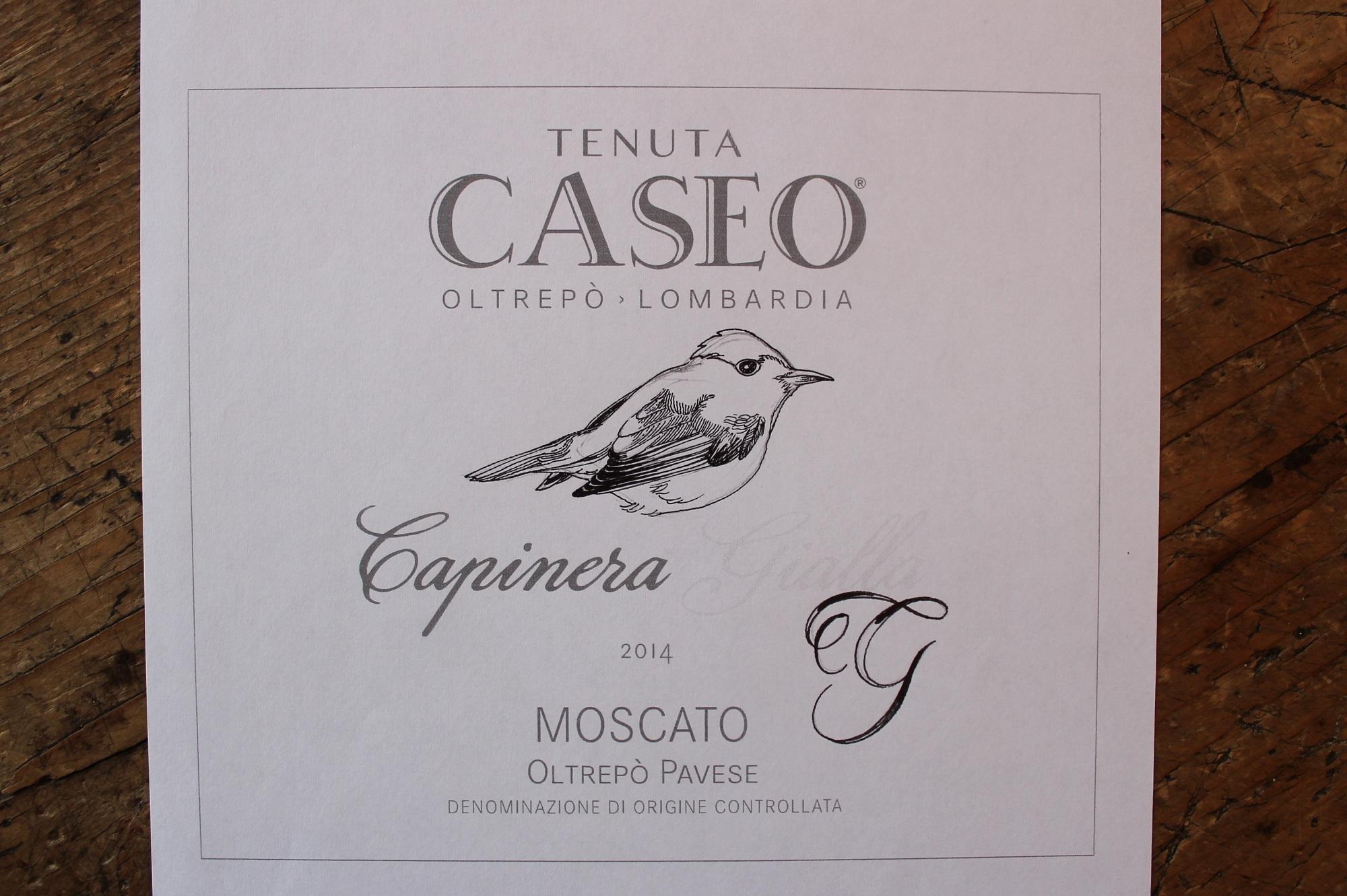 prova etichetta vino Capinera Gialla Tenuta CASEO Moscato
